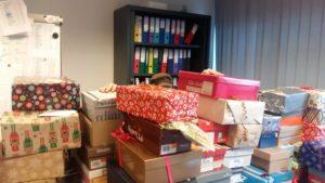 Douceurs en Boîtes - Nos bureaux disparaissaient sous les cadeaux...
