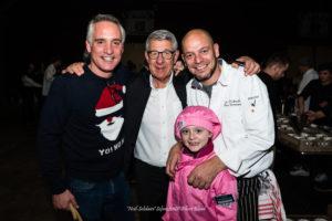 Noël Solidaire WEX 2018 - Avec Thomas Van Hamme, parrain de l'événement, Robert Bourgeois et le chef Olivier Bourguignon